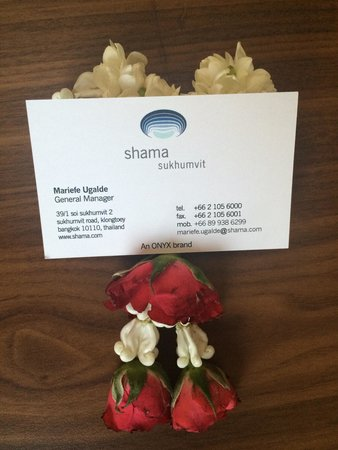 Shama Sukhumvit Bangkok: Nice to meet you Khun Mariefe ��
