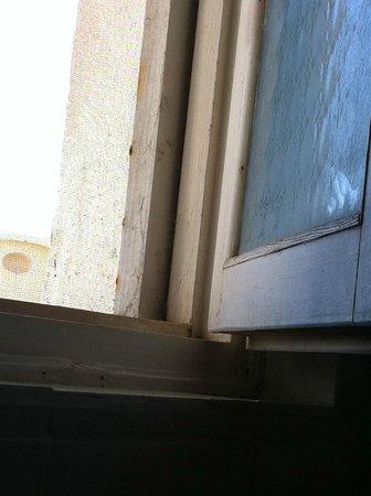 Corfu Sea Gardens: Windows needed a good clean.