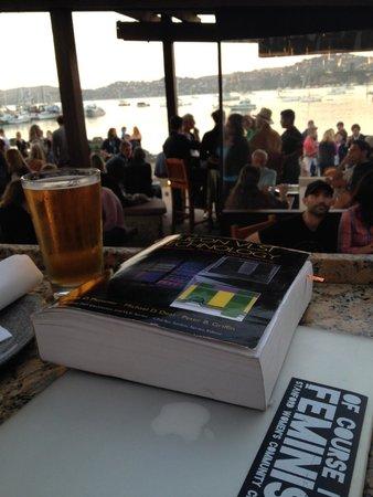 Bar Bocce : Sitting at the patio-bar