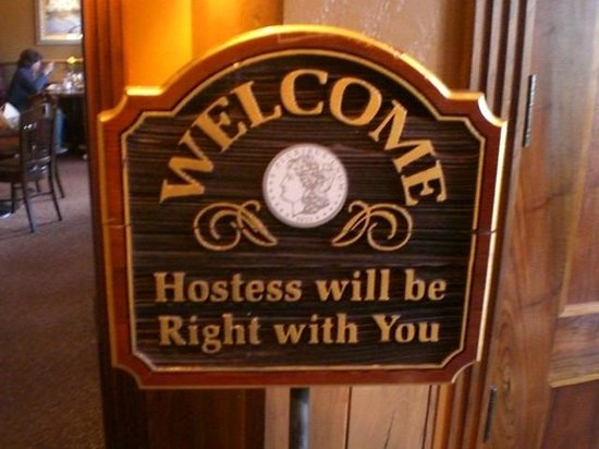 Silver Dollar Grill: Welcome Sign