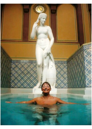 One of the historic spa baths at Palais Thermal