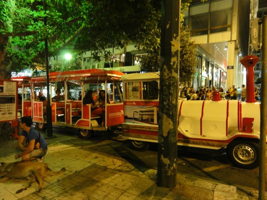 Athens Happy Train: Посадка в паровозик