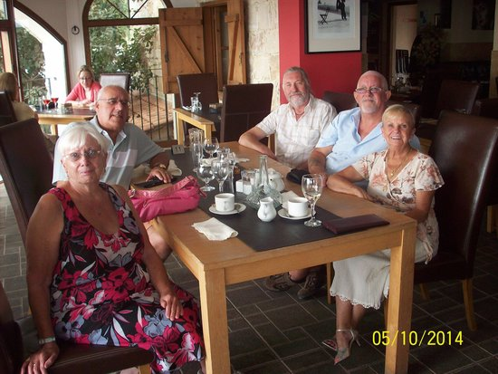 The Square Bar and Bistro Restaurant: with holiday visitors