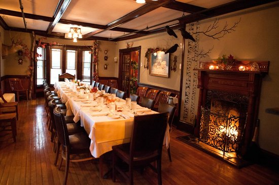 The INN: Dining Room Set Up For A Party Of 20. The Room Can