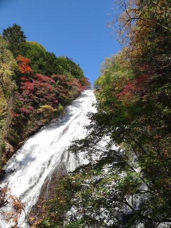 Yutaki Waterfall : 観瀑台から、紅葉の見ごろ始まり