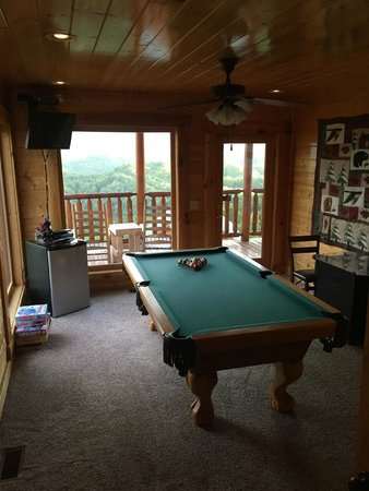 Mountain top view cabin in the preserve picture of - Gatlinburg falls resort swimming pool ...