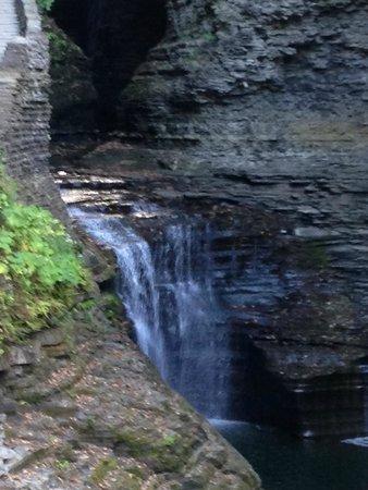 Watkins Glen State Park Campground: nice view of falls