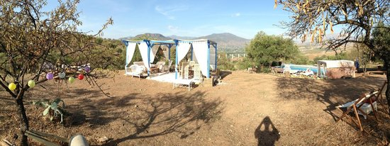 Alora Yurts: Outdoor dining area