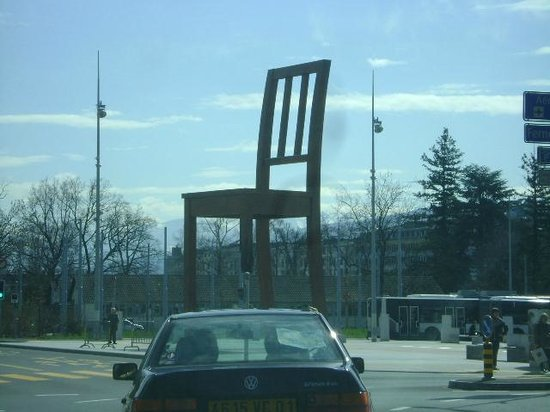Broken Chair Sculpture