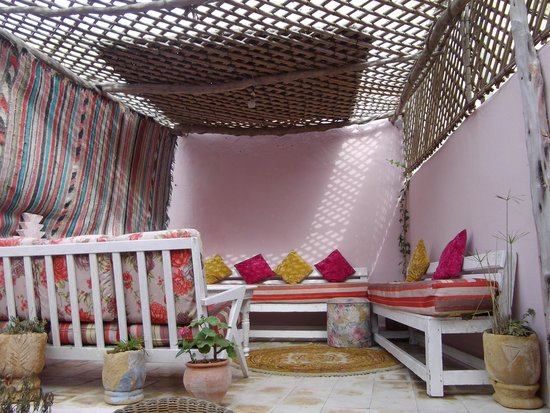 Chaabi chic: one of two roof terraces