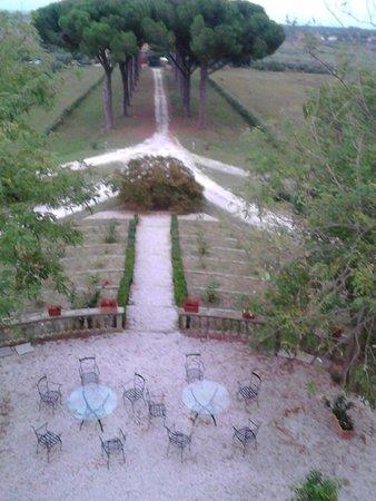 Villa Boldrini : vista dalla camera sul fronte