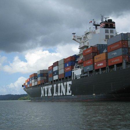 Gatun Lake: Ship in Panama Canal