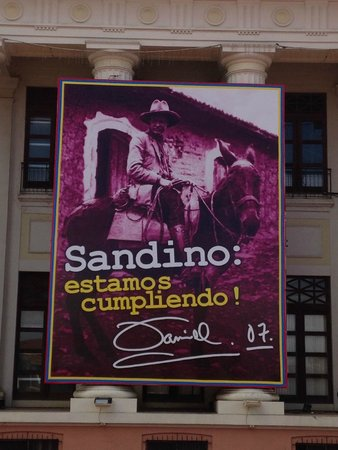 The National Palace of Culture...: Sandino por todas partes