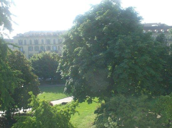 Hotel Roma e Rocca Cavour: uitzicht vanuit onze hotelkamer