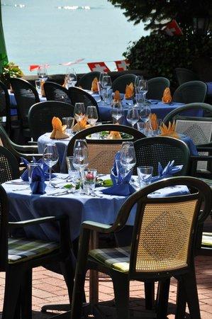 Seehotel Baren Brienz: eingedeckte Tische