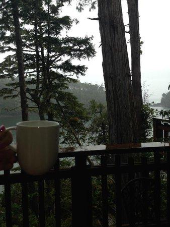 The He-Tin-Kis Lodge: Good morning Ucluelet