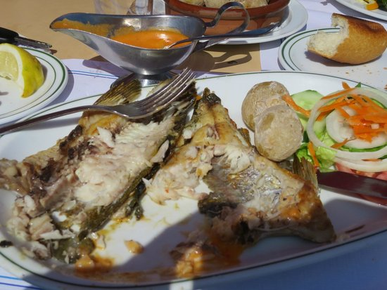 Restaurante El Caleton : My excellent half-eaten lunch