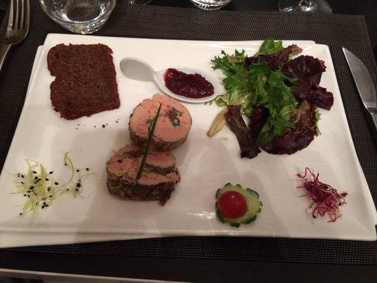 La Table d'Eugene : Marbré de foie gras au confit de figues avec pain d'épices maison