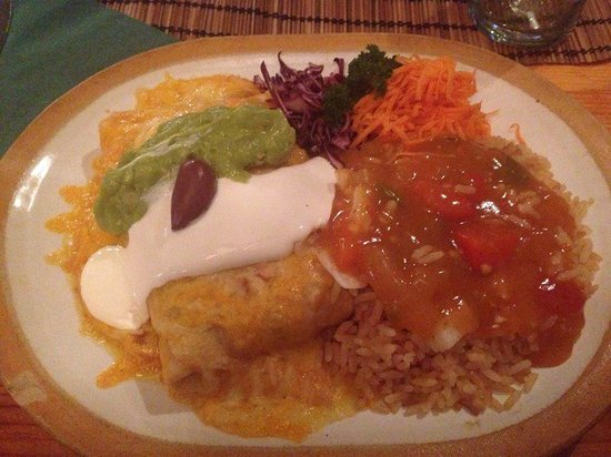 Tortilla Flats : A delicious Chimichanga meal. So filling and delicious!