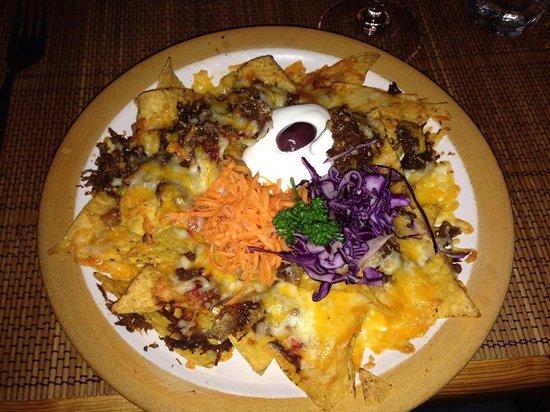 Tortilla Flats: Nachos with beef an (appetizer)  Sooo good.