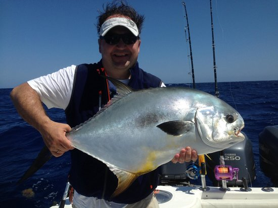 Capt Petrucco Charter Fishing: Uwe with a fish of a lifetime, a HUGE permit caught on the wrecks.