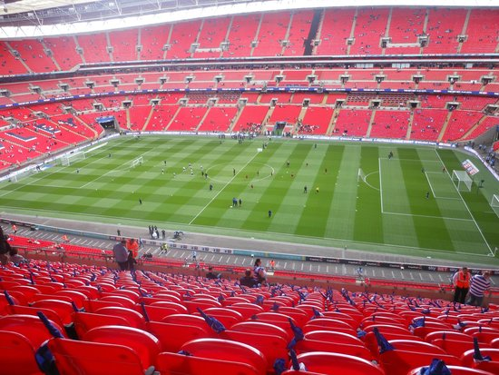 wembley stadium view from block 542 picture of wembley. Black Bedroom Furniture Sets. Home Design Ideas