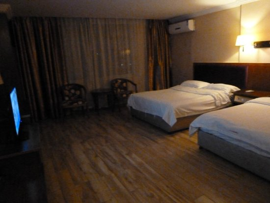 Riverside Hostel: our standard twin room with river view