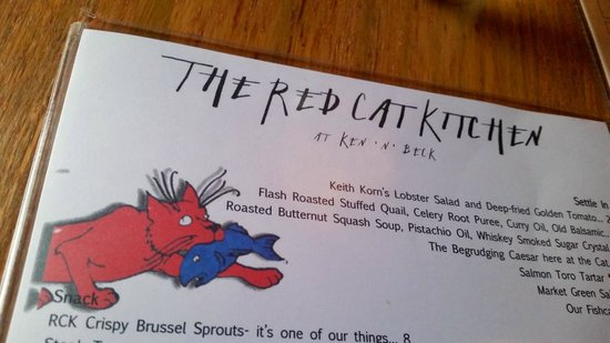 The Red Cat Kitchen at Ken N' Beck : Menu.