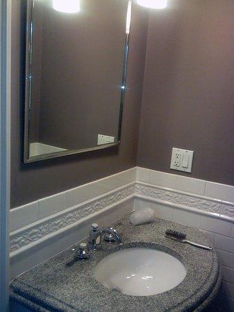 Longwood Inn : Bathroom Sink and Mirror