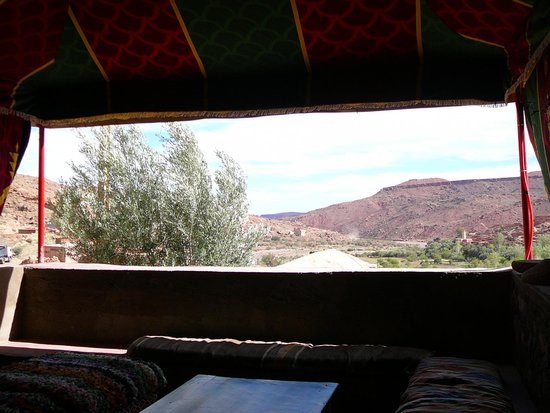 Dar Isselday: View from the tent sitting area