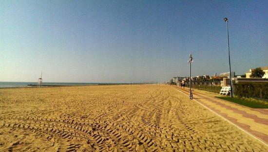 Adriatic Palace Hotel: Długa, piękna plaża