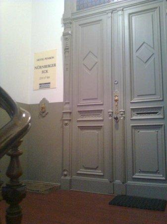 Pension Nürnberger Eck: Entrance to the hotel