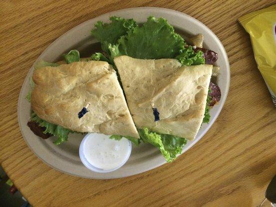 Blue Water Bakery Cafe : Elk Bratwurst on a Hoagie