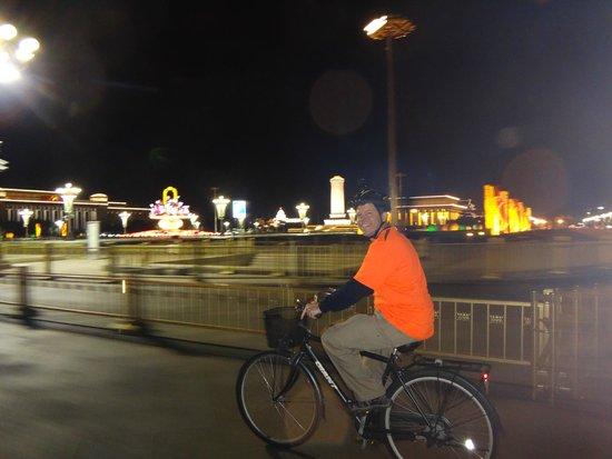 Bike Beijing - Day Tour: Riding past Tienanmen Square at night