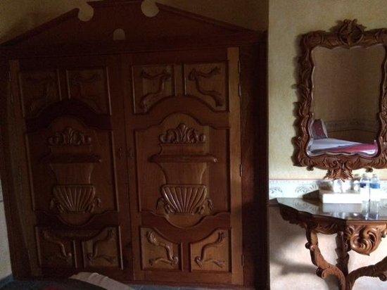 Hacienda Tres Vidas Hotel & Spa: detalle madera