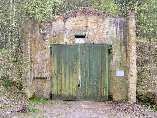 """Burkau, Germany: Бункер (""""Гранит"""") для хранения ракетной техники."""