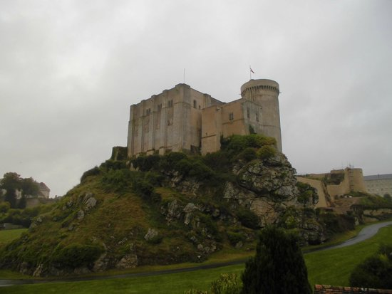 Fresne-la-Mere, France : Castle of William the Conquerer, Falaise nearby.