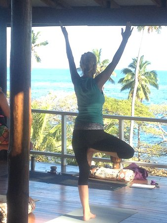 Daku Resort: yoga in the morning