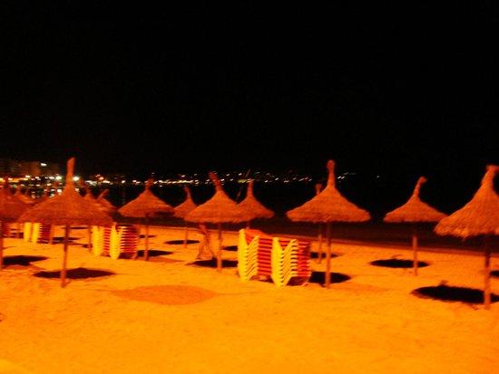 Iris Hotel: erster Strandeindruck