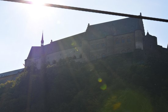 Vianden Chairlift : View of the Chateau from the chairlift...