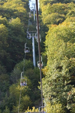 Vianden Chairlift : Views from the bottom...