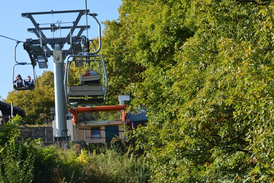 Vianden Chairlift : closeup of the chairlift...