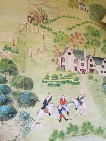 Avebury Manor: The hand painted wallpaper brought from China