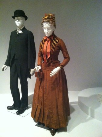 Mint Museum Randolph: a couple of mannequins in beautiful old clothes