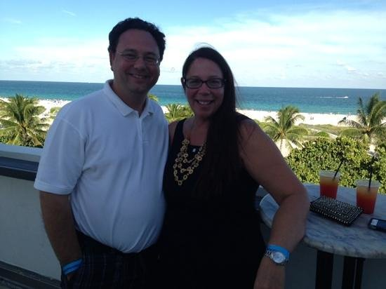 Suites at Congress Ocean Drive: Drinks on the rooftop, Tequila Sunrise!
