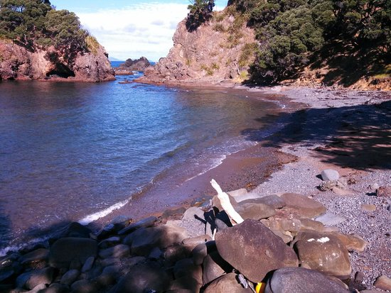 The Guesthouse at Taiharuru Farms Lodge: Private beach