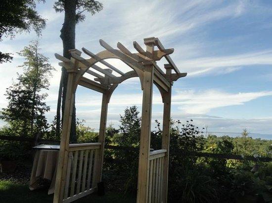Landmark Resort: Set up for wedding.