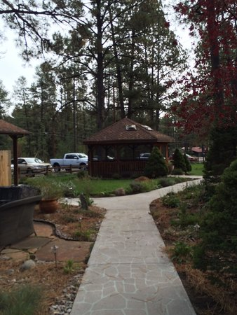 Shadow Mountain Lodge and Cabins: Grounds - walk to hot tub.