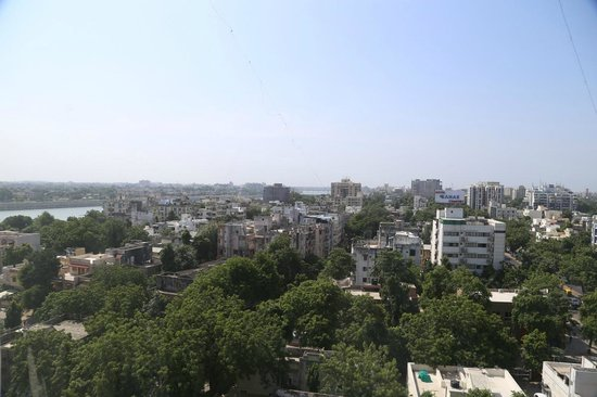 Starottel Ahmedabad: View from south facing rooms on the 8th floor