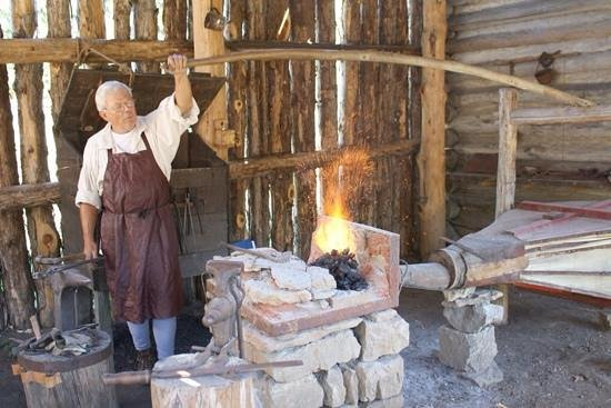 Historic Mansker's Station Frontier Life Center: The Blacksmith